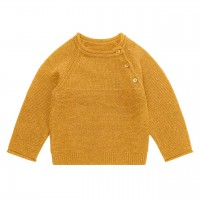 Baby Strickpullover in senf