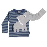 Langarm Kinder Elefanten Shirt Streifen