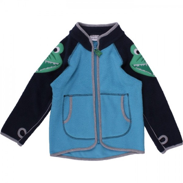 Bio Fleece Jacke für Jungen - Krokodil