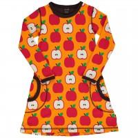 Kleid mit Taschen langarm elastisch Äpfel