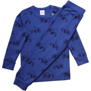 Traktor Schlafanzug blau