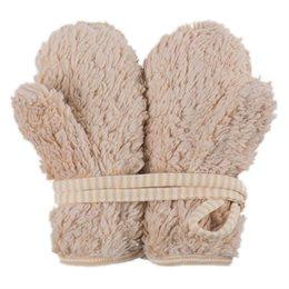Teddyplüsch Handschuhe beige