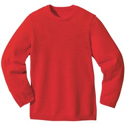 Wolle Pullover Melange rot