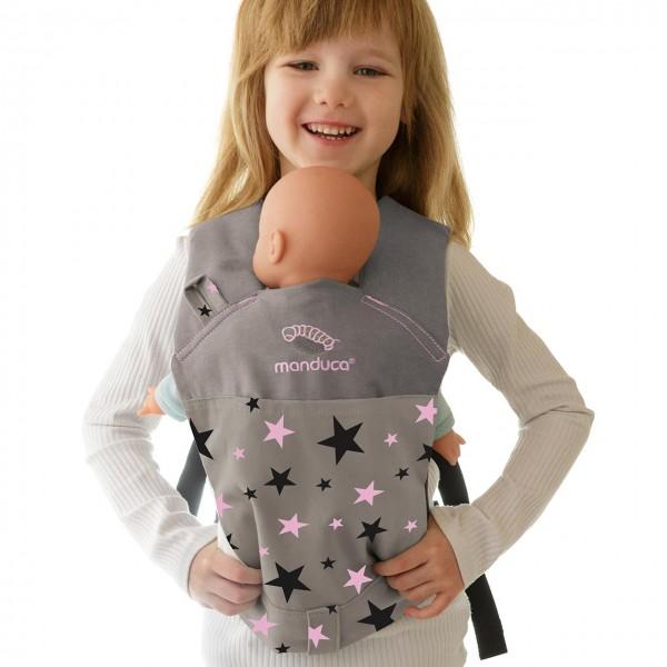 Kinder Puppentrage multifunktional – rosa Sterne