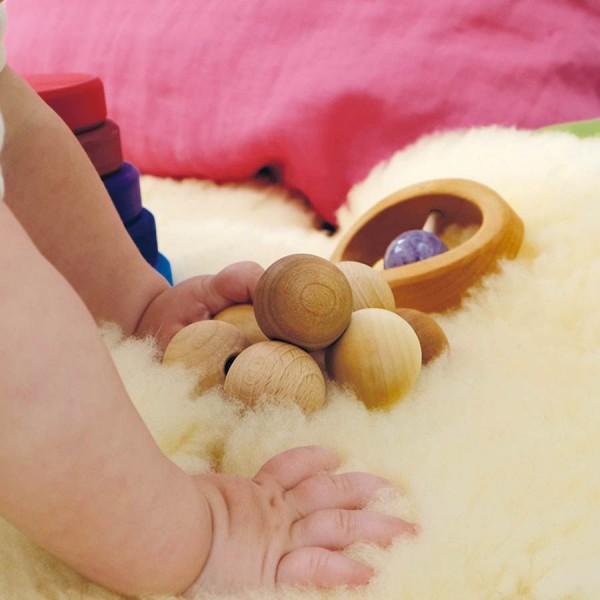 Holz Babyspielzeug Kugelgreifling