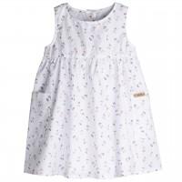 Sommerkleid dünner Webstoff Kirschen weiß