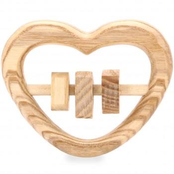Babyrassel Herz aus Holz für Babys ab 0 M.