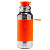 Thermo Trinkflasche Sportverschluss orange 475ml
