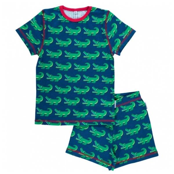 Sommer Schlafanzug Bio coole Krokodile