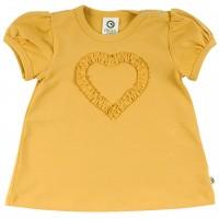 Ausgestelltes T-Shirt Herz in gelb