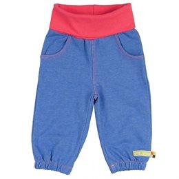Weiche Mädchenhose Jeansoptik blau pink