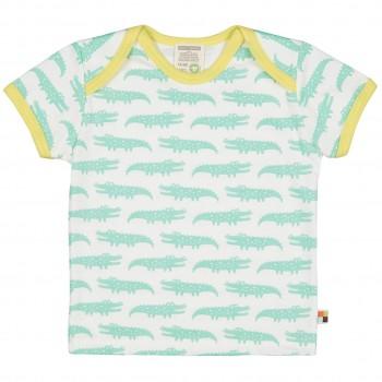 Kurzarm Shirt Krokodile mint/hell