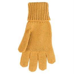 Fingerhandschuhe Wolle Seide curry senf