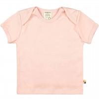 Leichtes Uni Kurzarm Shirt Basic in rosa