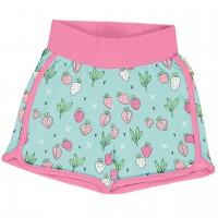 Leichte Jersey Shorts Erdbeeren in mint
