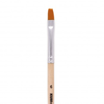 Schulpinsel Holz flache Spitze – Größe 6