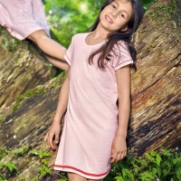 Sommerkleid Waffelstruktur rosa