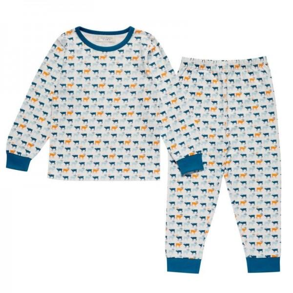Jungen Bio Schlafanzug mit Arm- und Fussbündchen - Rentiere