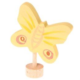 Grimms Stecker Schmetterling gelb Deko