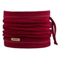 Wolle Seide 3in1 Schlauchschal Beanie in einem rot