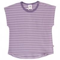 Mädchen T-Shirt gestreift griffig helllila