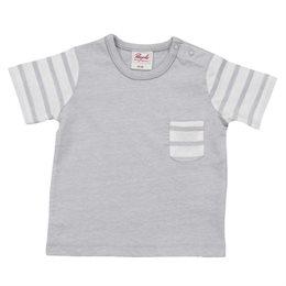 Leichtes Baby Shirt mit Druckknöpfen am Hals grau