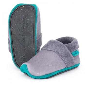 Bio Kindergarten Schuhe mitwachsend flexibel exclusiv grau