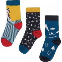 Baby Socken 3er Pack Husky navy