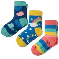 Kinder Mädchen Bio Socken 3er Pack Herz