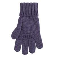 Strick Fingerhandschuhe Kinder lila