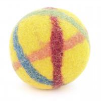 Baby Filzball mit Glöckchen - sonnengelb 9 cm