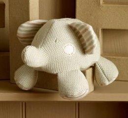 Gestrickter Elefant mit Glöckchen