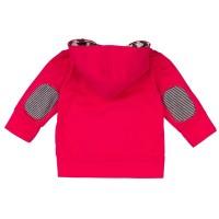 Vorschau: Sweatjacke für Kinder Loud and Proud dunkel pink/rot