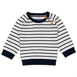 Baby Strickpullover Jungen marine gestreift