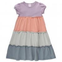 Hochwertiges Kleid Pastelltöne Stufenlook