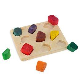 Holzpuzzle mit Brett und Bausteinen ab 2 Jahren
