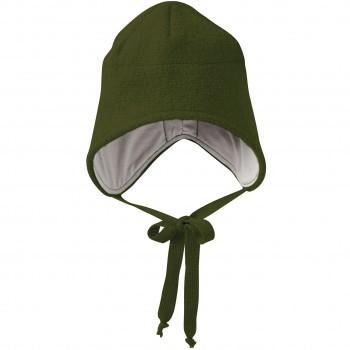 Wintermütze Wolle oliv-grün Ohrenschutz