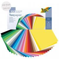 Tonpapier bunt DIN A5 100 Blatt recycelt