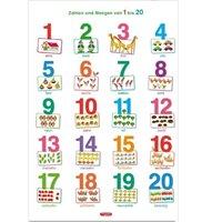 Lernposter Zahlen und Mengen ab 4 Jahre 70 x 100 cm