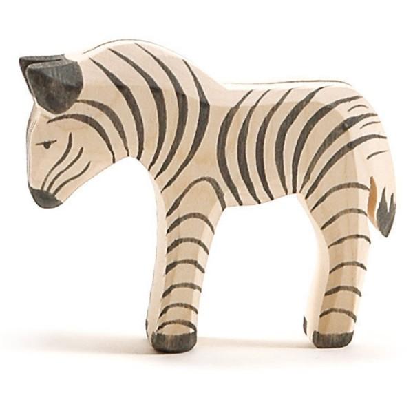 Zebra Fohlen Holzfigur 8 cm hoch