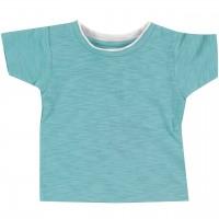 Slub Jersey Uni Shirt kurzarm blau-grau