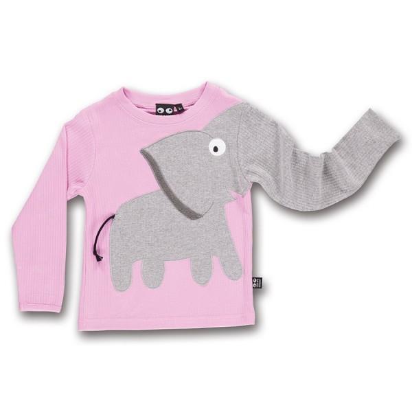Arm mit Elefant Langarmshirt rosa