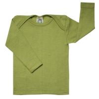 Atmungsaktives Wolle Seide Shirt grün