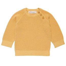 Baby Pullover gestrickte Biobaumwolle unisex gelb