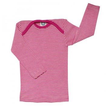 Cosilana Shirt rosa geringelt Wolle