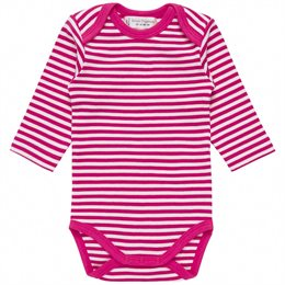 Bio Babybody griffig weich pink gestreift