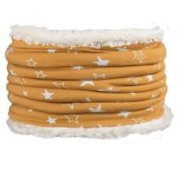 Warmer plüschiger Schlauchschal senf
