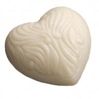 Vorschau: Herz-Schafsmilchseife EcoCert z.B. für unsere Waschlappen