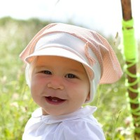 Vorschau: Bio Kopftuch als Schirmmütze von pure pure - pastell altrosa