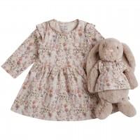 Eulen Babykleid Rüschen mit Puppenkleidchen